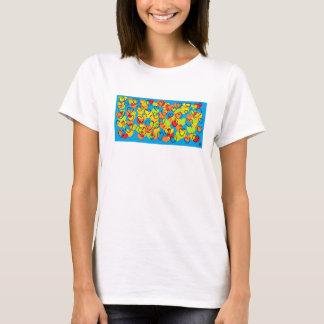 coração multicolor WS valentin t - shirt Camiseta
