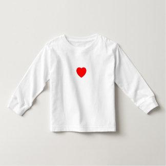 coração na luva longa branca t tshirt