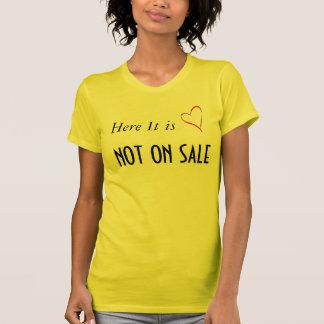 coração não na venda tshirt
