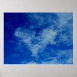 Coração nas nuvens impressão