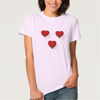 Coração no compasso de 3/4 camiseta