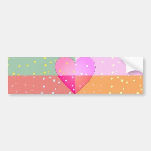 Coração no teste padrão feminino do impressão do a adesivo