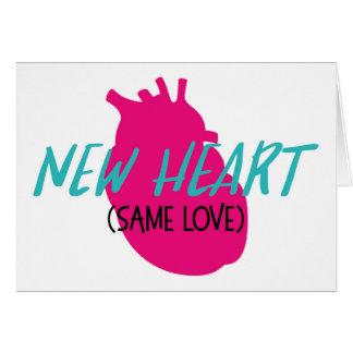 Coração novo - o mesmo cartão do amor