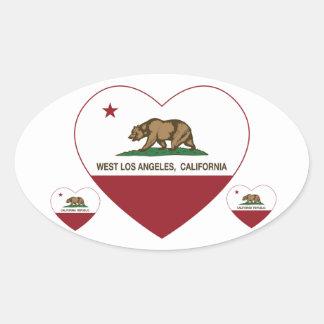 coração ocidental de Los Angeles da bandeira de Adesivo Oval