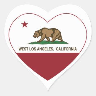 coração ocidental de Los Angeles da bandeira de Ca Adesivo De Coração