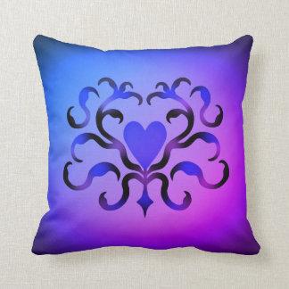 Coração ornamentado elegante almofada