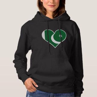 Coração paquistanês da bandeira moletom