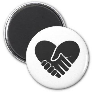 Coração preto conectado amor imã