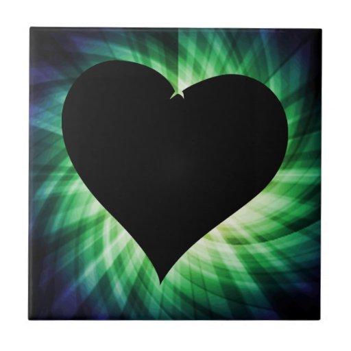 Coração preto; Legal Azulejos De Cerâmica
