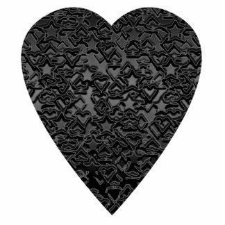 Coração preto. Projeto modelado do coração Fotoesculturas