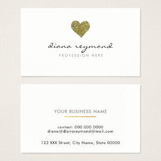 coração profissional do cartão de visita/do ouro