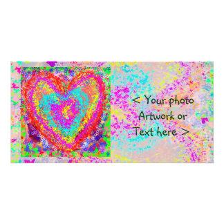Coração puro - tema romântico cartão com foto