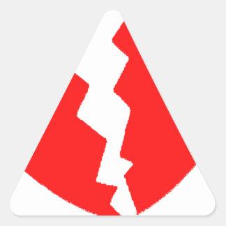 Coração quebrado adesivo triangular