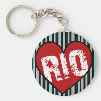 coração Rio de Janeiro Chaveiro