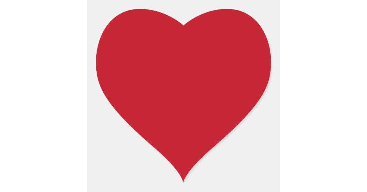 Adesivo Coração Vermelho ~ Coraç u00e3o rom u00e2ntico vermelho escuro do amor dado adesivo coraç u00e3o Zazzle