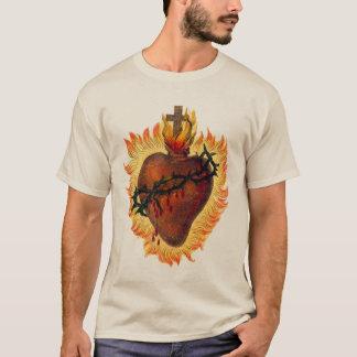 Coração sagrado da camisa de Jesus