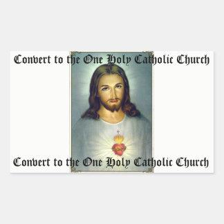 Coração sagrado da etiqueta católica santamente de