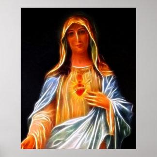 Coração sagrado da Virgem Maria Pôster