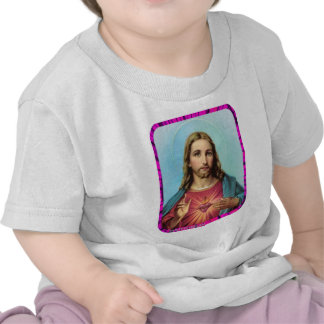 CORAÇÃO SAGRADO DE PRODUTOS CUSTOMIZÁVEIS DE JESUS T-SHIRT