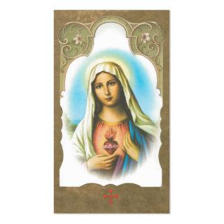 Coração sagrado do memorial do cartão da oração de cartão de visita
