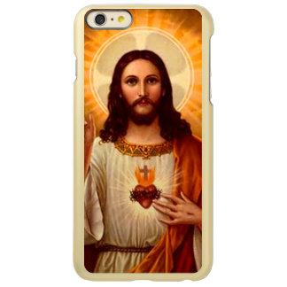 Coração sagrado religioso bonito da imagem de capa incipio feather® shine para iPhone 6 plus