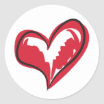 Coração simples adesivo