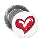 Coração simples botons