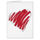 Coração simples cartão