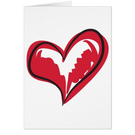 Coração simples cartão comemorativo