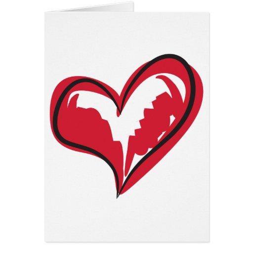 Coração simples cartoes