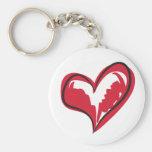 Coração simples chaveiros