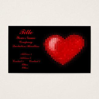 Coração telhado do mosaico (vermelho brilhante) cartão de visitas