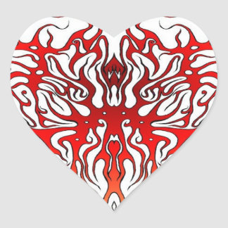 Coração tribal dos namorados do tatuagem adesivo coração
