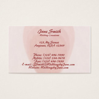 Coração triplo cartão de visitas