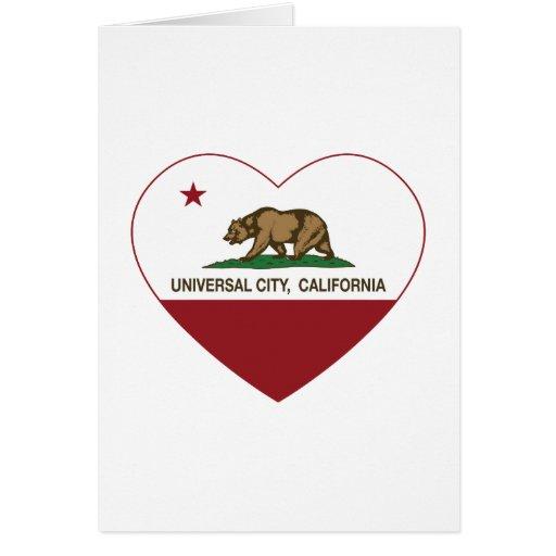 coração universal da cidade da bandeira de Califór Cartao