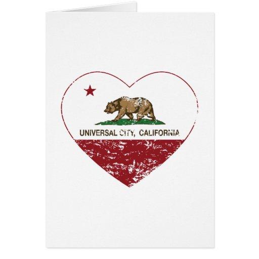 coração universal da cidade da bandeira de Califór Cartoes