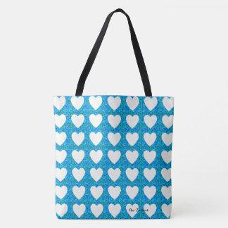 Coração-Verão-Azul (c) Multi-Estilos & tamanhos Bolsa Tote