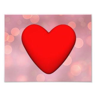 Coração vermelho - 3D rendem Impressão De Foto