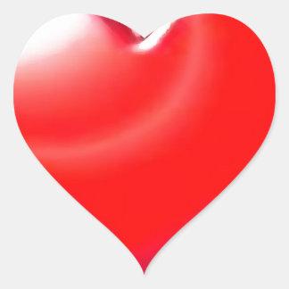 Coração vermelho adesivo coração