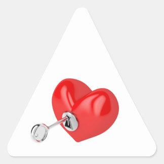 Coração vermelho adesivo triangular