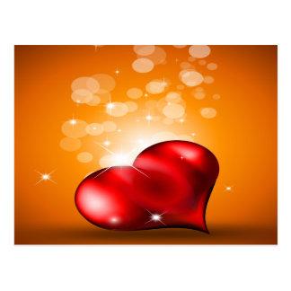 Coração vermelho bonito cartão postal