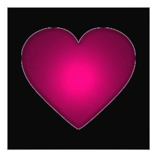 Coração vermelho bonito impressão de foto