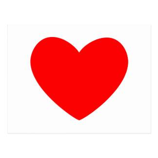 Coração vermelho cartão postal