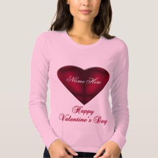 Coração vermelho do cetim tshirt
