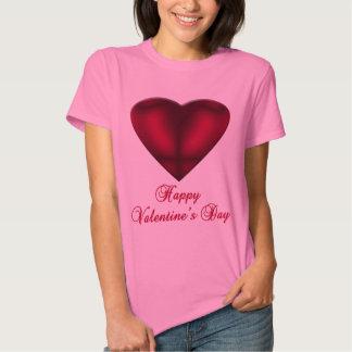 Coração vermelho do cetim tshirts