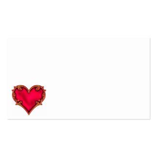 Coração vermelho real modelos cartoes de visita