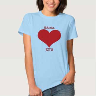 Coração vermelho t-shirts