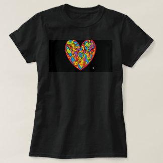 coração vermelho WS valentin t - shirt Camiseta