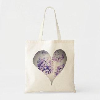 Coração violeta do Hydrangea do bolsa do