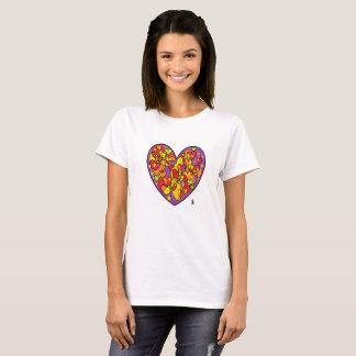coração violeta WS valentin Camiseta